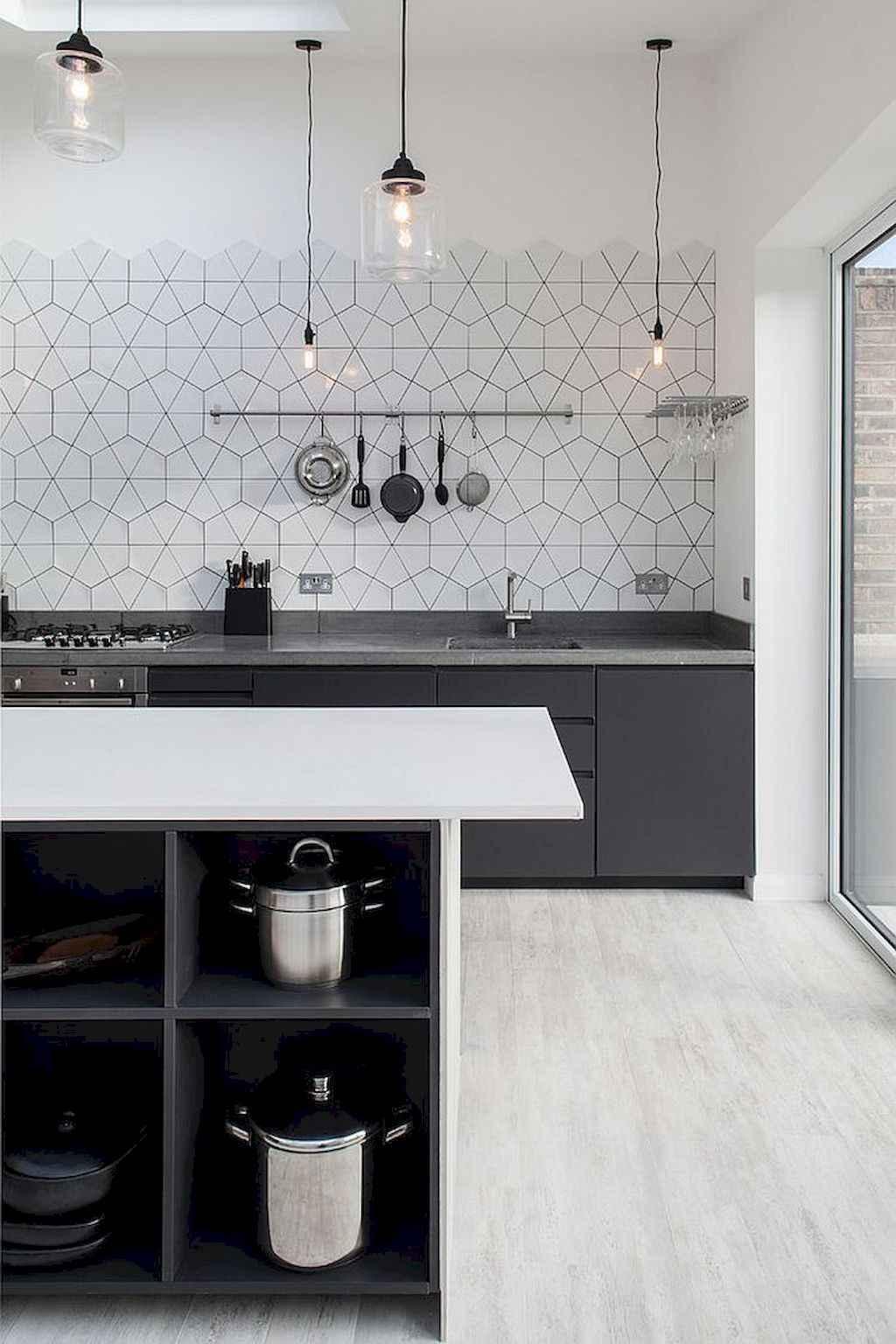 Gorgeous gray kitchen cabinet makeover ideas (58)
