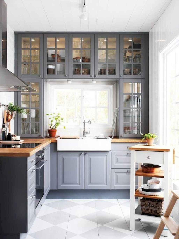 Gorgeous gray kitchen cabinet makeover ideas (59)