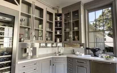 Gorgeous gray kitchen cabinet makeover ideas (63)