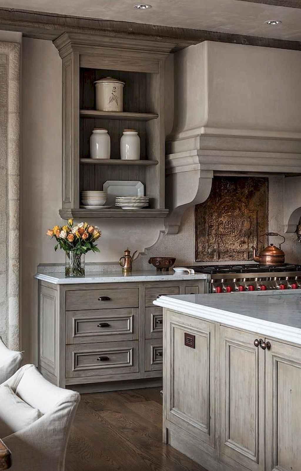 Gorgeous gray kitchen cabinet makeover ideas (65)