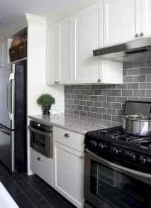 Gorgeous gray kitchen cabinet makeover ideas (70)