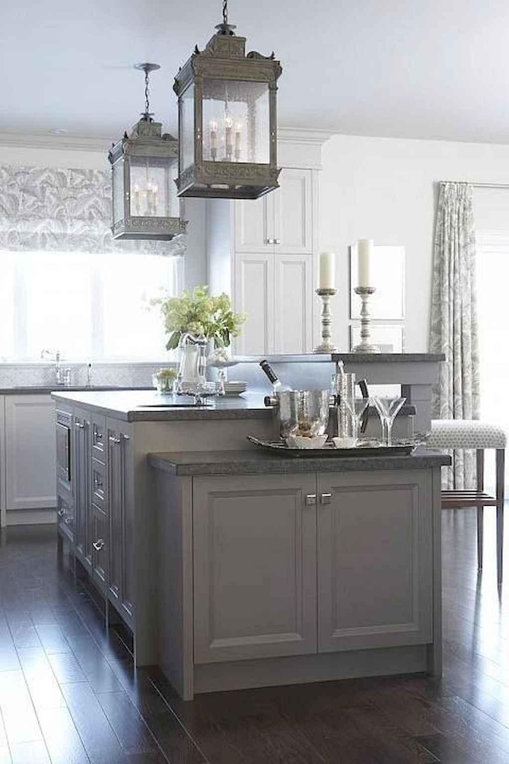 Gorgeous gray kitchen cabinet makeover ideas (71)