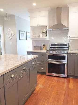 Gorgeous gray kitchen cabinet makeover ideas (77)