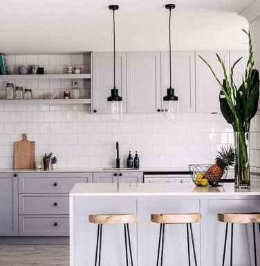 Gorgeous gray kitchen cabinet makeover ideas (82)