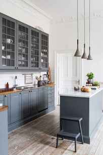 Gorgeous gray kitchen cabinet makeover ideas (9)