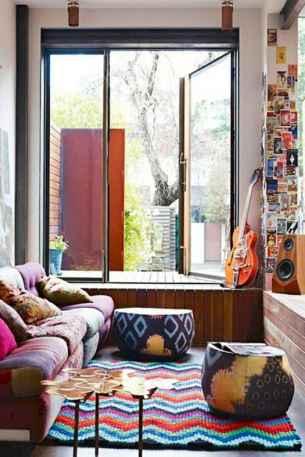 Modern bohemian living room decor ideas (26)