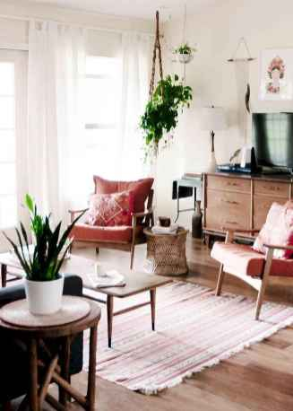 Modern bohemian living room decor ideas (27)