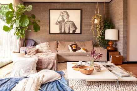 Modern bohemian living room decor ideas (42)