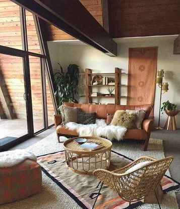 Modern bohemian living room decor ideas (48)