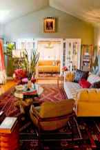 Modern bohemian living room decor ideas (73)