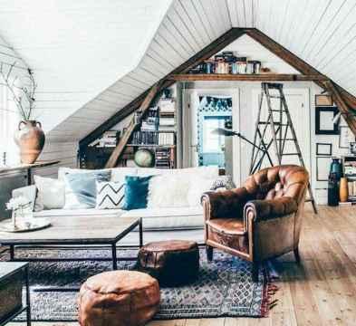 Modern bohemian living room decor ideas (93)