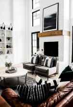 Rustic modern farmhouse living room decor ideas (1)