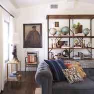 Rustic modern farmhouse living room decor ideas (10)