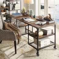 Rustic modern farmhouse living room decor ideas (29)