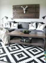 Rustic modern farmhouse living room decor ideas (36)