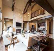 Rustic modern farmhouse living room decor ideas (41)