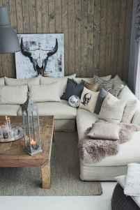 Rustic modern farmhouse living room decor ideas (6)
