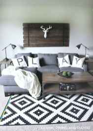 Rustic modern farmhouse living room decor ideas (65)