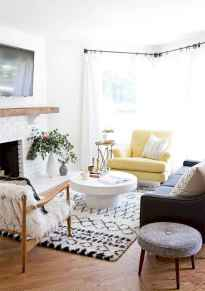 Rustic modern farmhouse living room decor ideas (78)