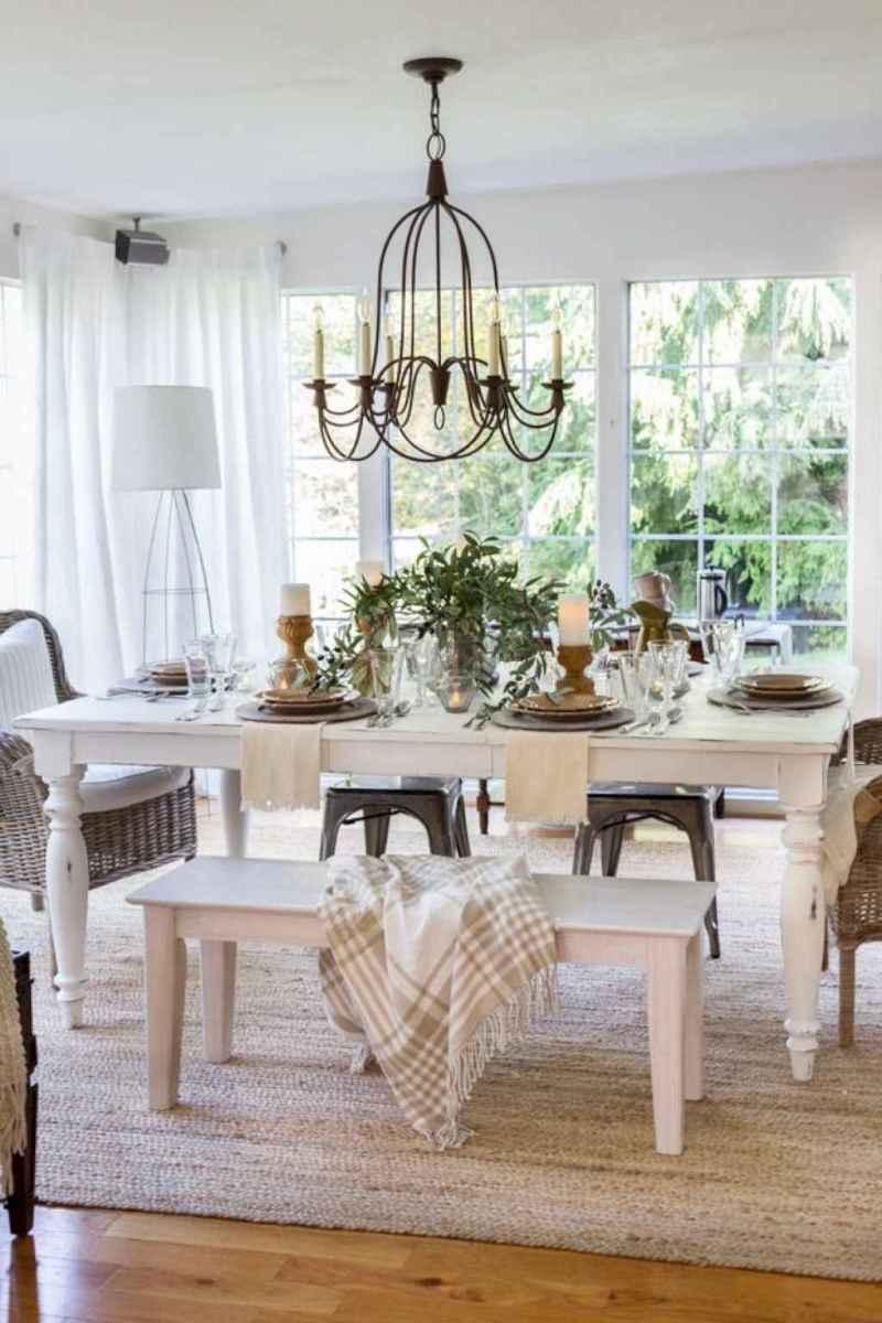 55 best farmhouse dining room makeover decor ideas