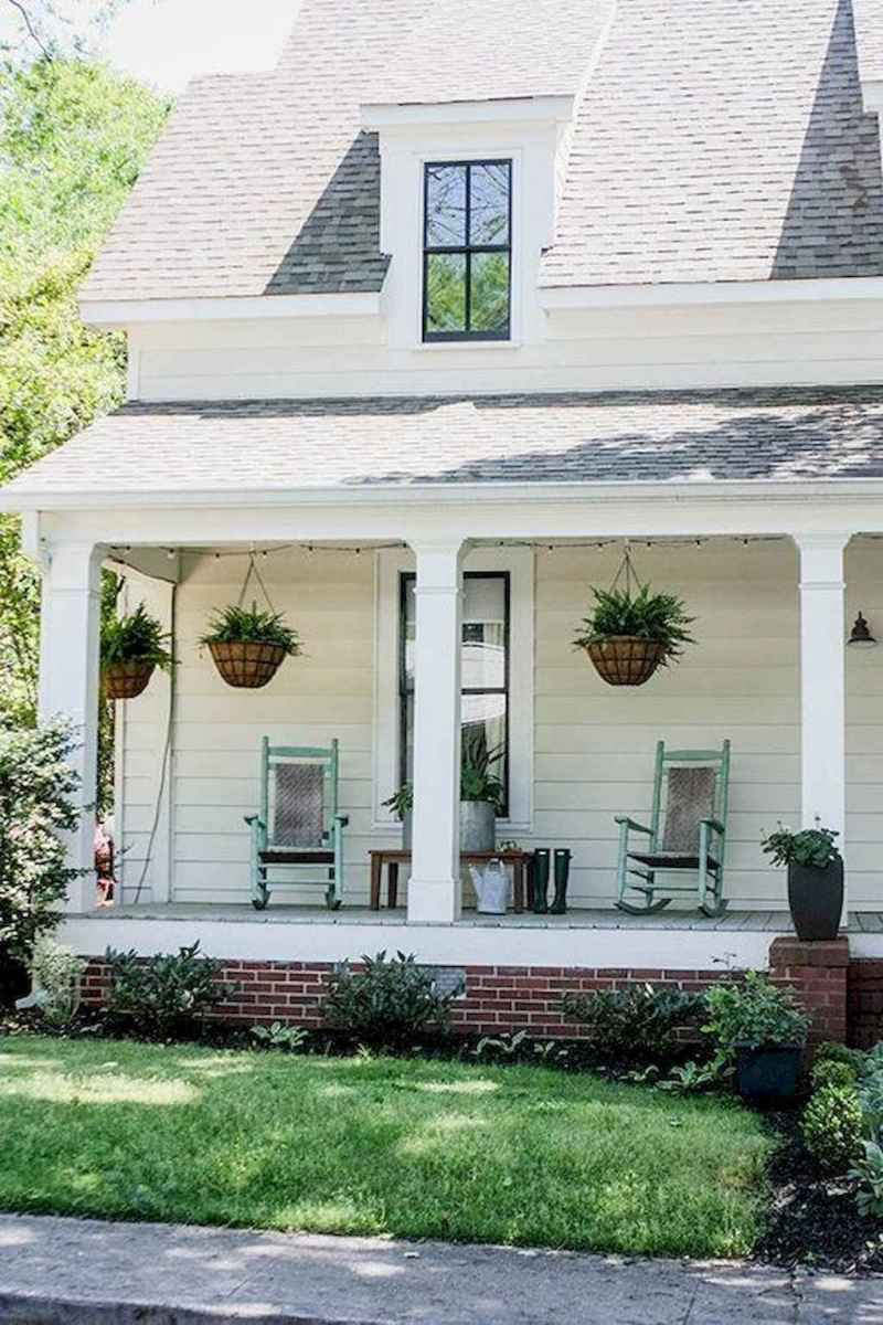 64 modern farmhouse front porch decorating ideas