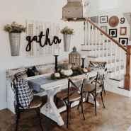 66 best farmhouse dining room makeover decor ideas