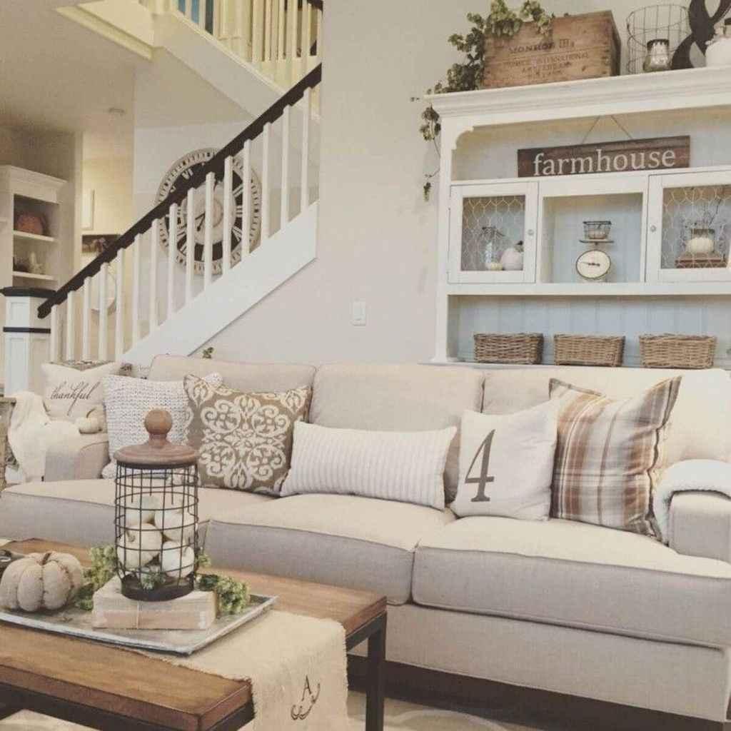 82 cozy modern farmhouse living room decor ideas