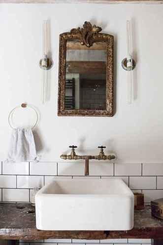 38 cool farmhouse bathroom remodel decor ideas