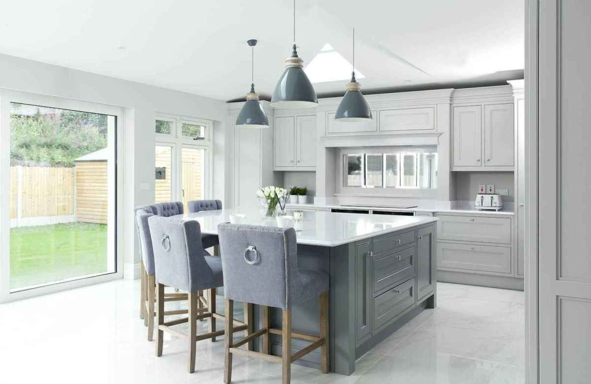 44 awesome gray kitchen cabinet design ideas