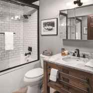 46 cool farmhouse bathroom remodel decor ideas