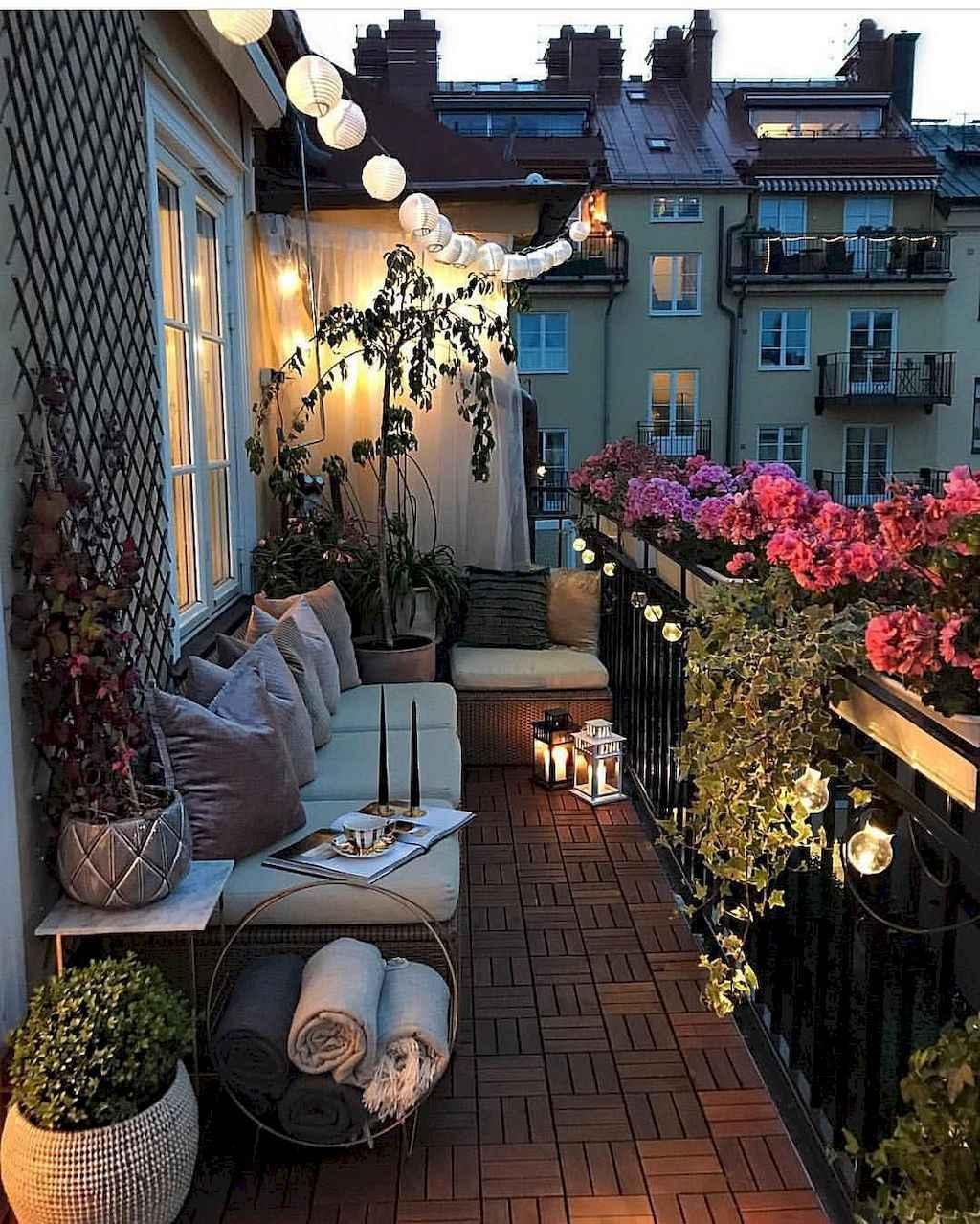 lampjes op balkon