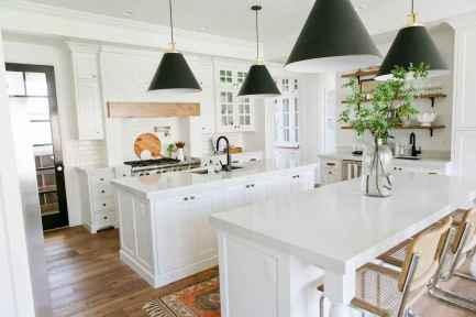 01 elegant gray kitchen cabinet makeover for farmhouse decor ideas