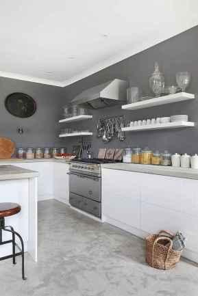 08 elegant gray kitchen cabinet makeover for farmhouse decor ideas