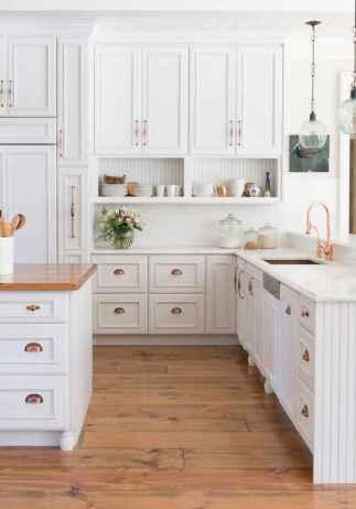 08 white kitchen cabinet decor for farmhouse style ideas