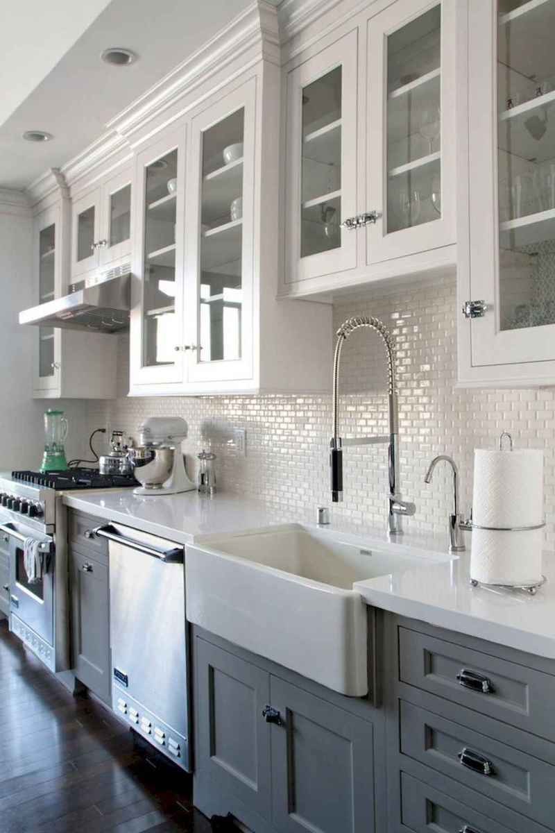 18 elegant gray kitchen cabinet makeover for farmhouse decor ideas