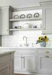 22 elegant gray kitchen cabinet makeover for farmhouse decor ideas