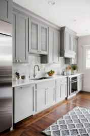 23 elegant gray kitchen cabinet makeover for farmhouse decor ideas
