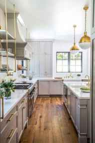 36 elegant gray kitchen cabinet makeover for farmhouse decor ideas