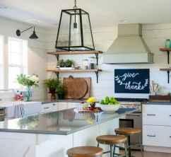 39 elegant gray kitchen cabinet makeover for farmhouse decor ideas