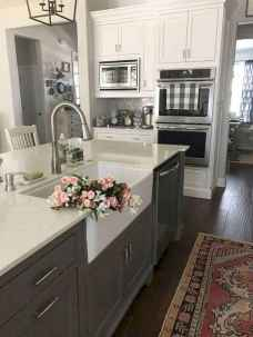 45 elegant gray kitchen cabinet makeover for farmhouse decor ideas