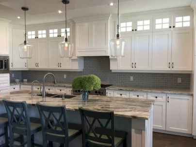 46 elegant gray kitchen cabinet makeover for farmhouse decor ideas