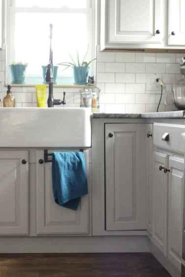 47 elegant gray kitchen cabinet makeover for farmhouse decor ideas
