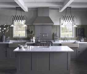 52 elegant gray kitchen cabinet makeover for farmhouse decor ideas