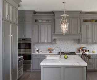 62 elegant gray kitchen cabinet makeover for farmhouse decor ideas