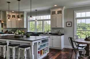 74 elegant gray kitchen cabinet makeover for farmhouse decor ideas