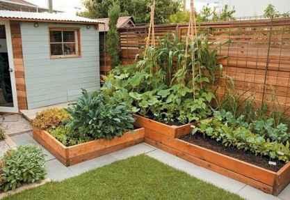 34 affordable backyard vegetable garden design ideas