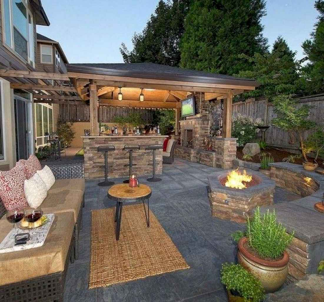 38 fantastic outdoor kitchen design for your summer ideas