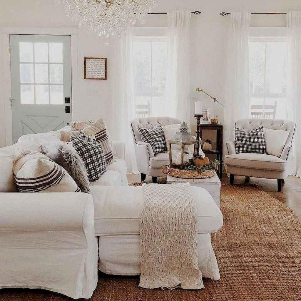 43 cozy farmhouse living room rug decor ideas