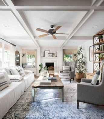 45 cozy farmhouse living room rug decor ideas