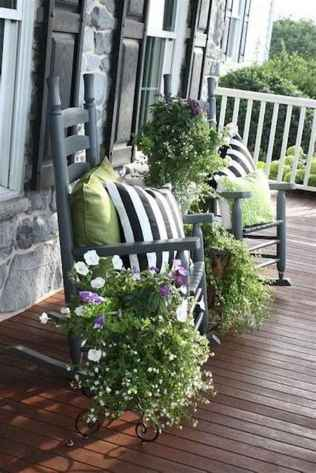 46 beautiful spring front porch decorating ideas